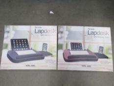 2 portable memory foam lap desks