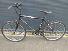 Challenger black and silver mountain bike