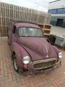 Interesting vintage Morris Minor delivery van, in need of complete restoration, no V5