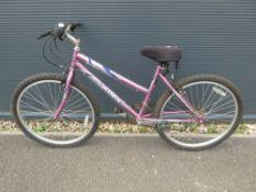 Sabre pink girls bike