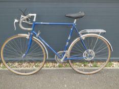 Blue Raleigh racer bike