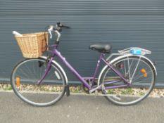 Purple Caprice ladies bike