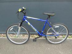 Challenge blue and green mountain bike
