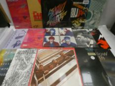 Box containing LP and 45 records to include Studio Killers, The Beatles, John Coltrane, Tom Watts