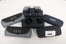 2019 - 4 cased Duke sunglasses and 2 Elle cased sunglasses