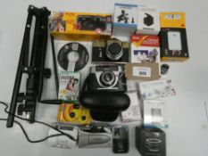 Bag containing camera's and camera related accessories