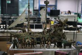 Pirates of the Caribbean ship playset with various figures and accessories