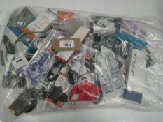 Bag containing quantity of mobile phone accessories