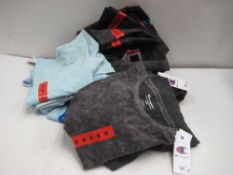 Bag containing ladies charcoal grey t-shirts by Champion sizes ranging from XXL to M (approx 20,