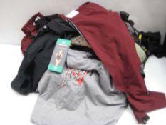 Bag containing ladies DKNY sports leggings, tops, etc