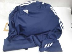 Bag of 7 Adidas blue sports tops
