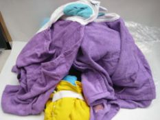Bag containing childrens wraps in various designs and colours