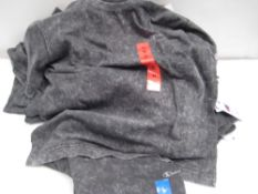Bag containing ladies charcoal grey t-shirts by Champion sizes ranging from XXL to M (approx 20)