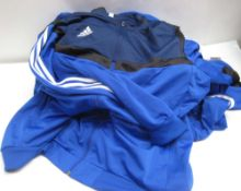 10 Royal Blue Adidas sports tops (fully zipped)