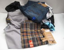 Bag of mens mixed clothing to include underwear, shirts, socks, etc