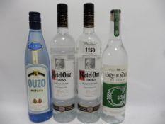 4 bottles, 1x Breindal Welsh Gin from the Rhaedr Fawr Distillery 70cl 37.