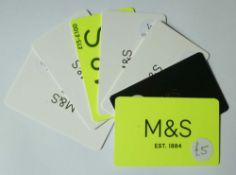 Marks & Spencer (x7) - Total face value £100