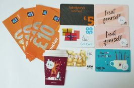 Various : Supermarket & Food (x8) - Total face value £125