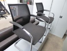 2 Sedus black cloth cantilever chairs
