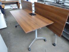 3 150cm Senator mobile folding tables