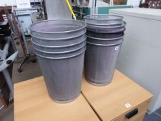 10 mesh paper bins, desk fan, box of disposable cups and exercise ball