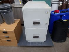 (215) 54cm Chubb two drawer fire safe with wall plate