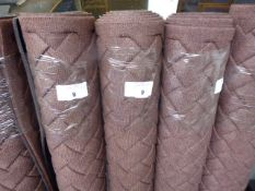 Large brown commercial mat with woven finish