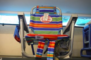 (1046) Tommy Bahama 5 position backpack chair