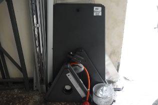 (1056) Flat pack aluminium patio heater (missing glass tub)