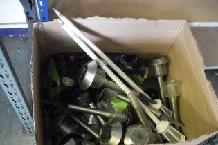 Box containing garden solar lights