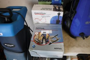 Nilfisk water sand blasting attachment with Nilfisk patio cleaning attachment