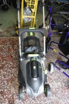 G-tech cordless lawn mower with grass box, 1 battery and battery charger