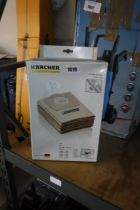 Box of Karcher wet and dry vacuum cleaner bags