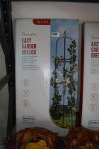 Boxed decorative easy garden obelisk (1.9m)