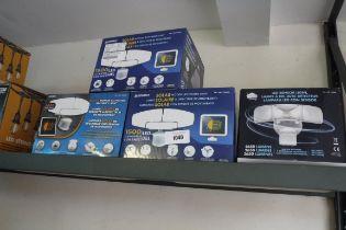4 Sunforce solar wall lights