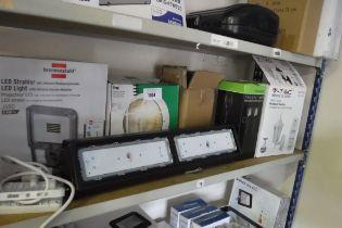 Shelf of outdoor lighting