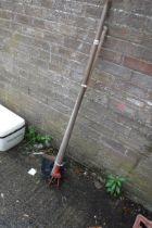 Garden hoe and spade