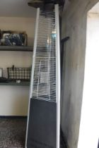 Stainless steel outdoor patio heater with glass tube
