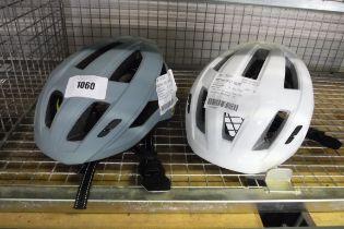 Pair of 3 town adult bike helmets