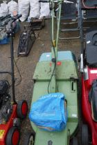 Hayter push along mower with grass box