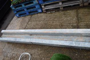 Quantity of large metal beams