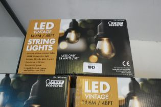 Boxed set of LED vintage string light sets (14.6m)