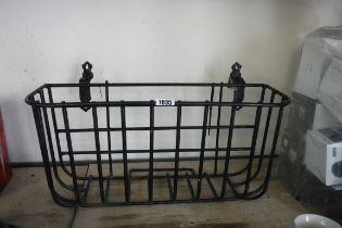 (2008) Black wrought iron wall trough