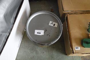 Tub of Ronseal 1 coat timber care (dark oak)