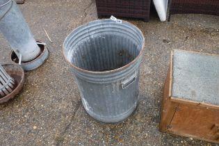 (2218) Galvanized garden bin