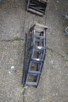 2 metal wheel ramps