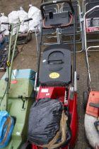 Mountfield push along mower with grass box