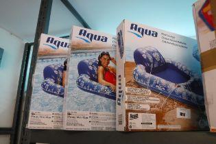 (1067) 3 Aqua inflatable pool loungers