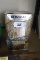 Pack of Ronseal decking protector with tub of decking cleaner and reviver