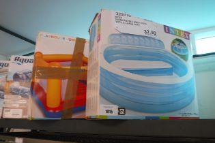 Intex play house jump-o-lene with Intex inflatable pool